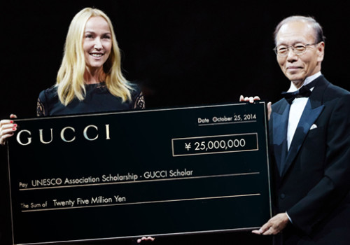 Gucci offers 25 millions of yen to UNESCO