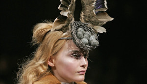 6. Bird's Nest Headdress, made with Swarovski Gemstones by Philip Treacy and Shaun Leane for Alexander McQueen AW 2007
