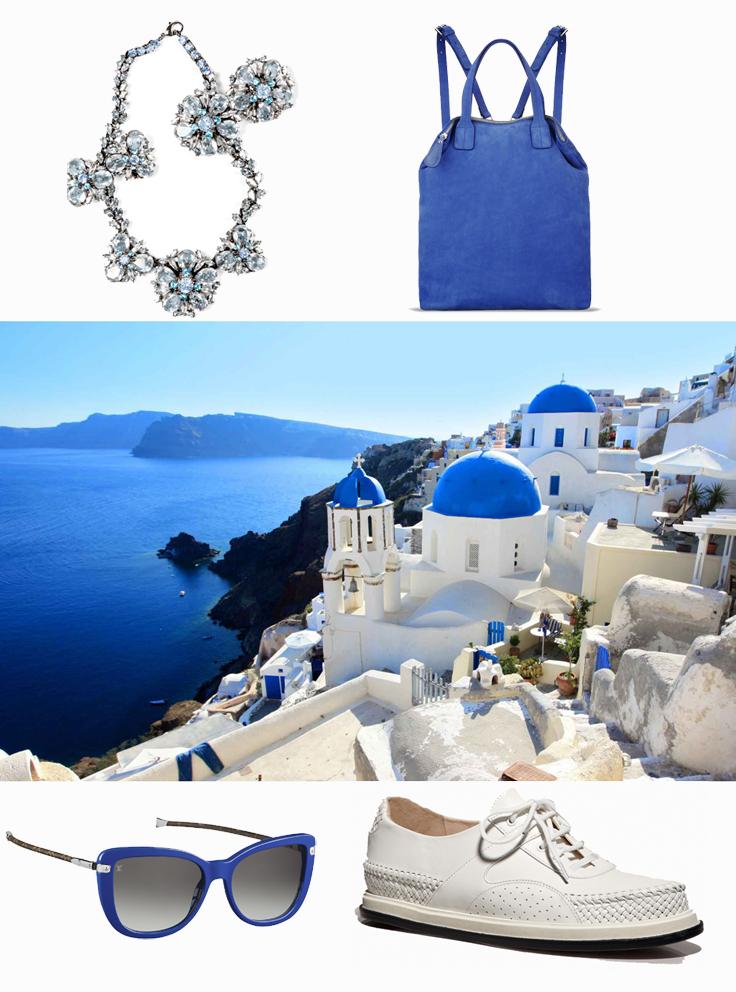Ermanno Scervino necklace, L'ed emotion bag, Louis Vuitton sunglasses, Bottega Veneta shoes.