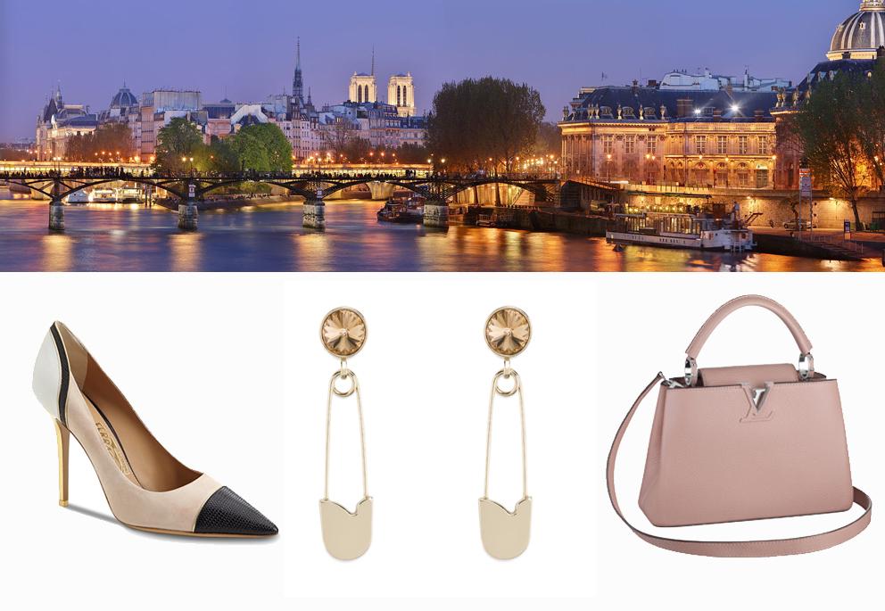 Salvatore Ferragamo shoes, Giorgio Armani earrings, Louis Vuitton bag. Ph. Benh LIEU SONG