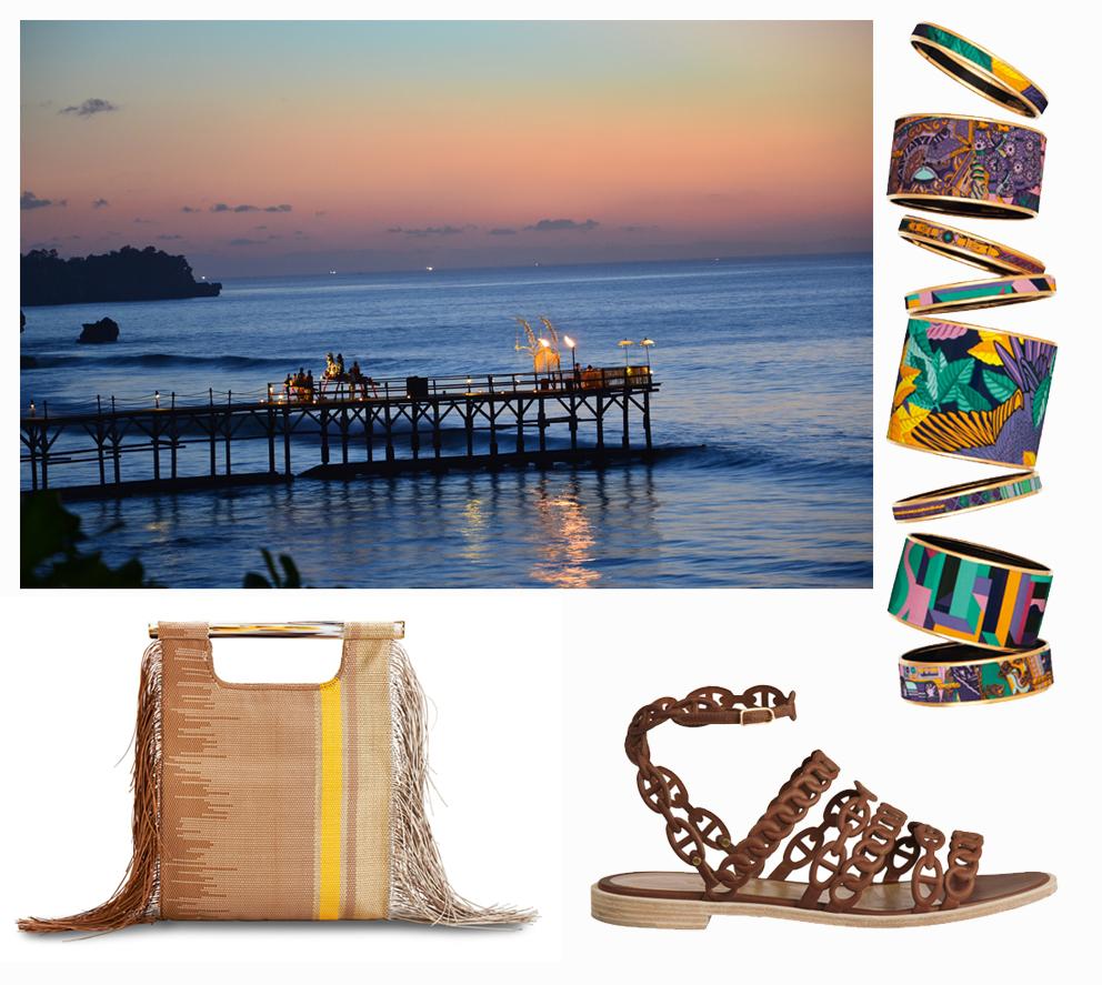 Salvatore Ferragamo bag, Hermès shoes and bracelets.  Ph. Simon_sees