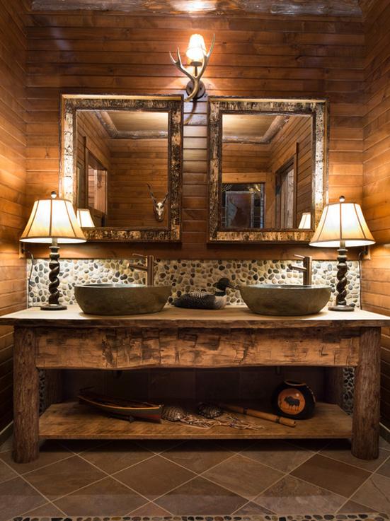 28 idee per la casa in montagna bookmoda for Adirondack bathroom design