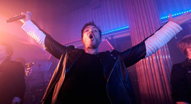 Simon Le Bon dei Duran Duran durante la performance. Photo Credit - Getty Images for Michael Kors