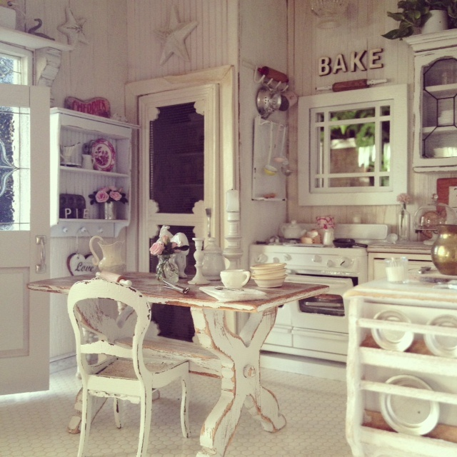 Cucina shabby chic stelle scritte bookmoda - Cucina country chic ...
