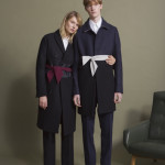 From left: N°21 coat, shirt and trousers, Marco Grisolia belt, Flaminia Barosini Jewellery Designer ring, Sergio Rossi shoes; N°21 coat and trousers, Brioni shirt, Marco Grisolia belt, Sergio Rossi shoes.