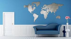 Carluccio Design - Realizza complementi d'arredo per le pareti, riproponendo le classiche cartine geografiche in acciaio inox.