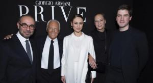 Giuseppe Tornatore, Giorgio Armani, Olga Kurylenko and Max Benitz_SGP