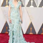 HOLLYWOOD, CA - FEBRUARY 28: la candidata e presentatrice Cate Blanchett ha scelto un lungo abito a sirena, impreziosito di Swarovski e piume tono su tono di Armani Privè. A completare il look un make-up firmato anch'esso Armani.  (Photo by Jeff Kravitz/FilmMagic)