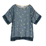 T-shirt over in organza stampata_2