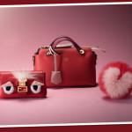 Fendi Loves, la capsule collection dedicata a San Valentino, propone alcuni dei prodotti più iconici della maison: i Bag Bugs, la mini By The Way in pelle rossa, il mini zaino e la micro baguette in pelliccia e cristalli. Per l'occasione, Fendi ha creato uno piccolo charm in pelliccia di volpe rossa con intarsiato un cuore rosa. L'iconica Peekaboo, invece, si tinge di rosso, insieme ad una clutch di pelle e un Bag Bug in pelliccia di volpe e visone con tanto di occhietti in cristallo a forma di cuore.