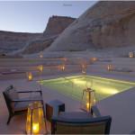 The swimming pool of the Amangiri in Utah, USA.
