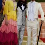 Charlotte Casiraghi e Jared Leto in Gucci.     (Photo credit should read TIMOTHY A. CLARY/AFP/Getty Images)