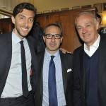 Ennio Fontana (direttore commericale di Philipp Plein International), Massimo Dell'Acqua (Managing Director di Percassi) e Antonio Percassi.