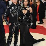 Jeremy Scott e Nicki Minaj in Moschino (Getty Images)