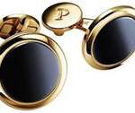 """Gemelli """"Piaget Altiplano"""" in oro rosa 18 carati ed ematite indossati da Michael B. Jordan"""