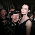 Stephen Jones and Erin O'Connor attend the Dior Cruise Collection 2017 dinner and afterparty at Loulou's in London (Photo by Victor Boyko/Getty Images for Dior)