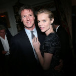 Eva Herzigova and Gregorio Marsiaj attend the Dior Cruise Collection 2017 dinner and afterparty at Loulou's in London (Photo by Victor Boyko/Getty Images for Dior)