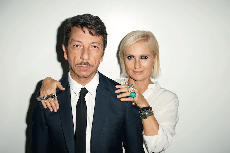Maria Grazia Chiuri e Pierpaolo Piccioli, ph. Terry Richardson.