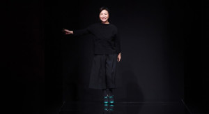 MILAN, ITALY - FEBRUARY 25:  Designer Izumi Ogino acknowledges the applause of the audience at the Anteprima show during Milan Fashion Week Fall/Winter 2016/17 on February 25, 2016 in Milan, Italy.  (Photo by Venturelli/Getty Images for Anteprima) *** Local Caption *** Izumi Ogino