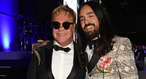 LONDON, ENGLAND - SEPTEMBER 06:  Sir Elton John (L) and Designer of the Year Alessandro Michele attend the GQ Men Of The Year Awards 2016 at the Tate Modern on September 6, 2016 in London, England.  (Photo by David M. Benett/Dave Benett/Getty Images)