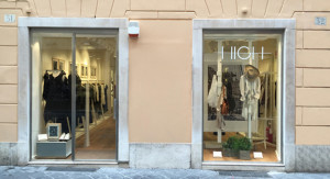 Vetrina Boutique HIGH - Roma