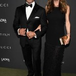 LOS ANGELES, CA - OCTOBER 29:  Actor Sylvester Stallone (L) and businesswoman Jennifer Flavin attend the 2016 LACMA Art + Film Gala honoring Robert Irwin and Kathryn Bigelow presented by Gucci at LACMA on October 29, 2016 in Los Angeles, California.  (Photo by Frazer Harrison/Getty Images for LACMA)
