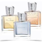 Avon - Tre fragranze: Far Away con pesca, gelsomino, vaniglia e muschio; Incandessence con frizzante bergamotto, rosa e muschi cremosi; Perceive con gardenia, prugna, orchidea e vaniglia