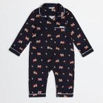 Dolce&Gabbana - Tutina da bambino in cotone con stampa Mimmo the Dog con la sua cuccia