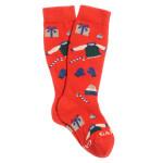 Gallo - Gambaletto rosse con fantasia Natale