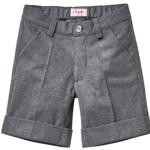 Il Gufo - Pantalone bermuda da bambino in tecnowool di colore grigio con piega e risvolto