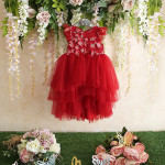 Little Miss Aoki - Abitino rosso con gonna in tulle della collezione speciale Xmas Holiday