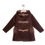 La Stupenderia - Cappotto da bambino in eco motone con cappuccio