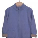 La Stupenderia - Cardigan da bambino collo alto in cashmere con tasche davanti