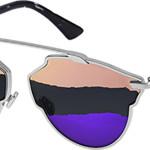 """Occhiale da sole modello """"DiorSoReal"""" con frontale in metallo, aste in acetato, e lenti tricolor."""