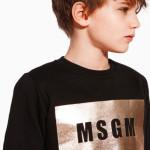 MSGM - Felpa da bambino con l'iconico logo in oro