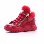 Naturino - Sneaker da bimba in pelle rossa con stampa rettile