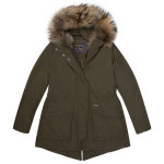 Woolrich - GIRL MILITARY PARKA Parka a collo alto con ampie tasche applicate a battente