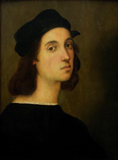 """Raffaello Sanzio, """"Autoritratto"""", 1504-06, Galleria degli Uffizi, Firenze."""