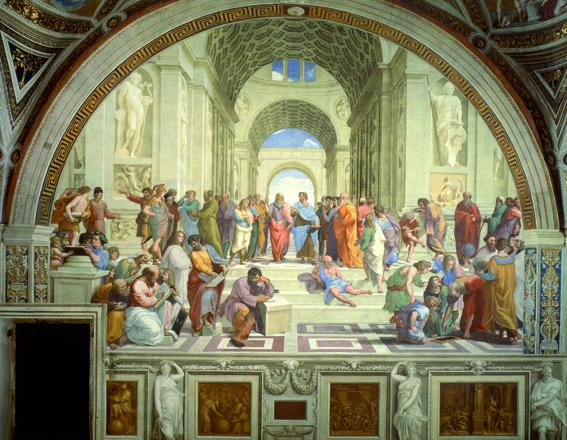 """Raffaello, """"The School of Athens"""", 1509-1511 ca., Musei Vaticani, Roma."""