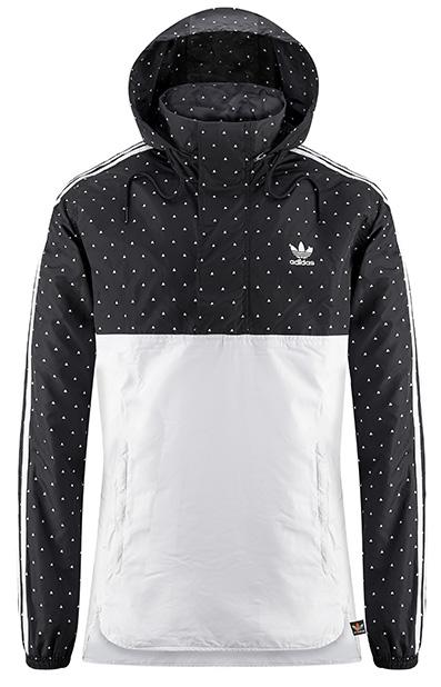 AW LAB propone anche la Felpa Adidas Hu Brand Pharrell Williams Hoodie bianca e nera con pois bianchi.