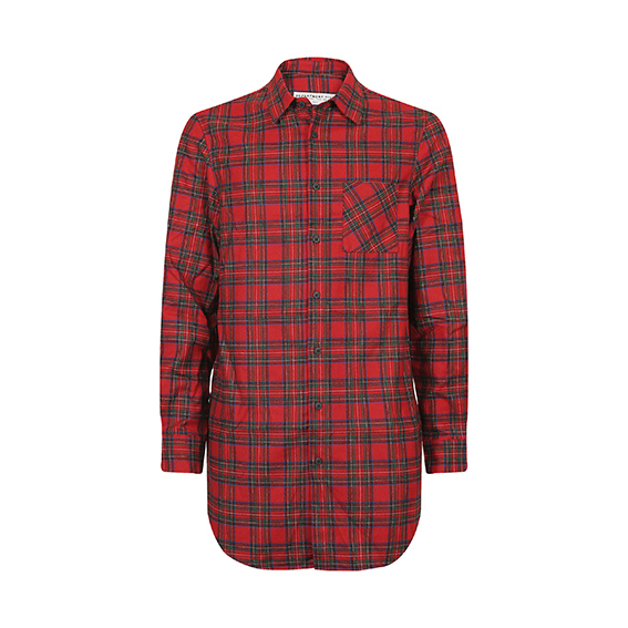 Department Five - Camicia dalla fantasia tartan in lana. Un perfetto regalo natalizio da indossare, perché no, sotto ad un bel maglione con le renne.