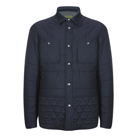 Dondup - Camicia color jeans imbottita e trapuntata.