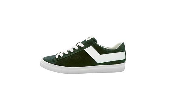 Pony - Sneaker bassa sui toni del verde caratterizzata dall'iconico baffo color bianco.
