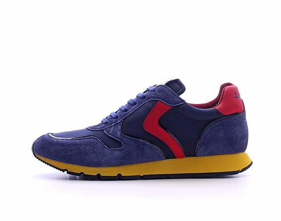 Voile Blanche - Sneaker in velour e nylon con inserti in pelle dalle tonalità contrastanti.