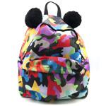 Made in Love: zaino camouflage multicolor con orecchie di M Collective.