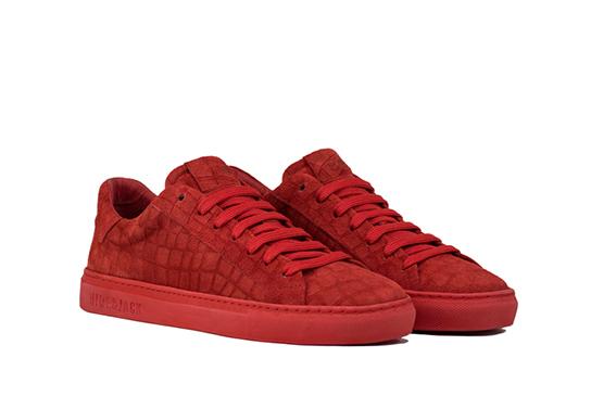 Hide&Jack - Sneaker bassa in nabuk con suola in gomma.