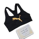 M Collective: work out wash kit con top da palestra di Puma.