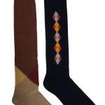 Lavorazione liscia e pied-de-poule in pregiato cashmere e cotone, con inserti bouclè e tweed per le new socks di Alto Milano.