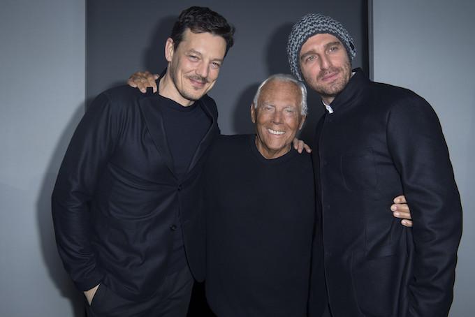 Giorgio Armani, Giampaolo Morelli and Giorgio Lupano - SGP