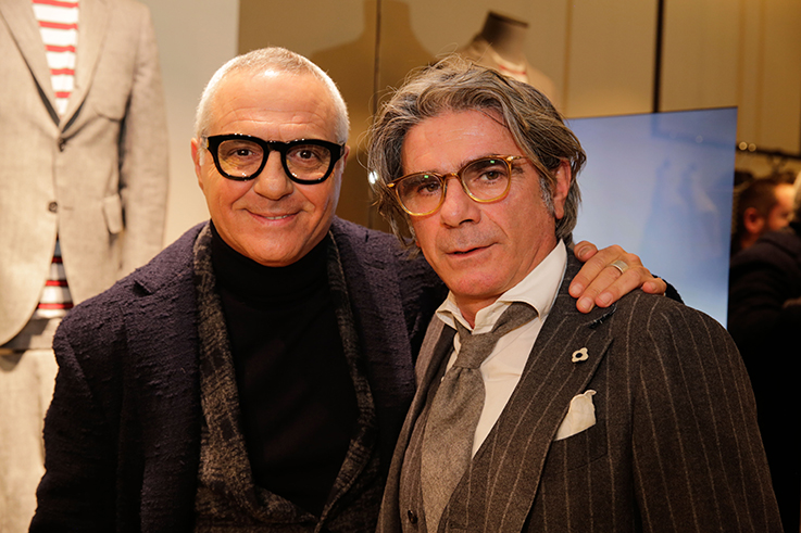 Giorgio Panariello e Luigi Lardini